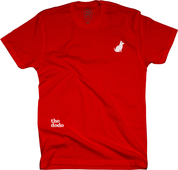 Dodo Friends Tee - Dog/Red