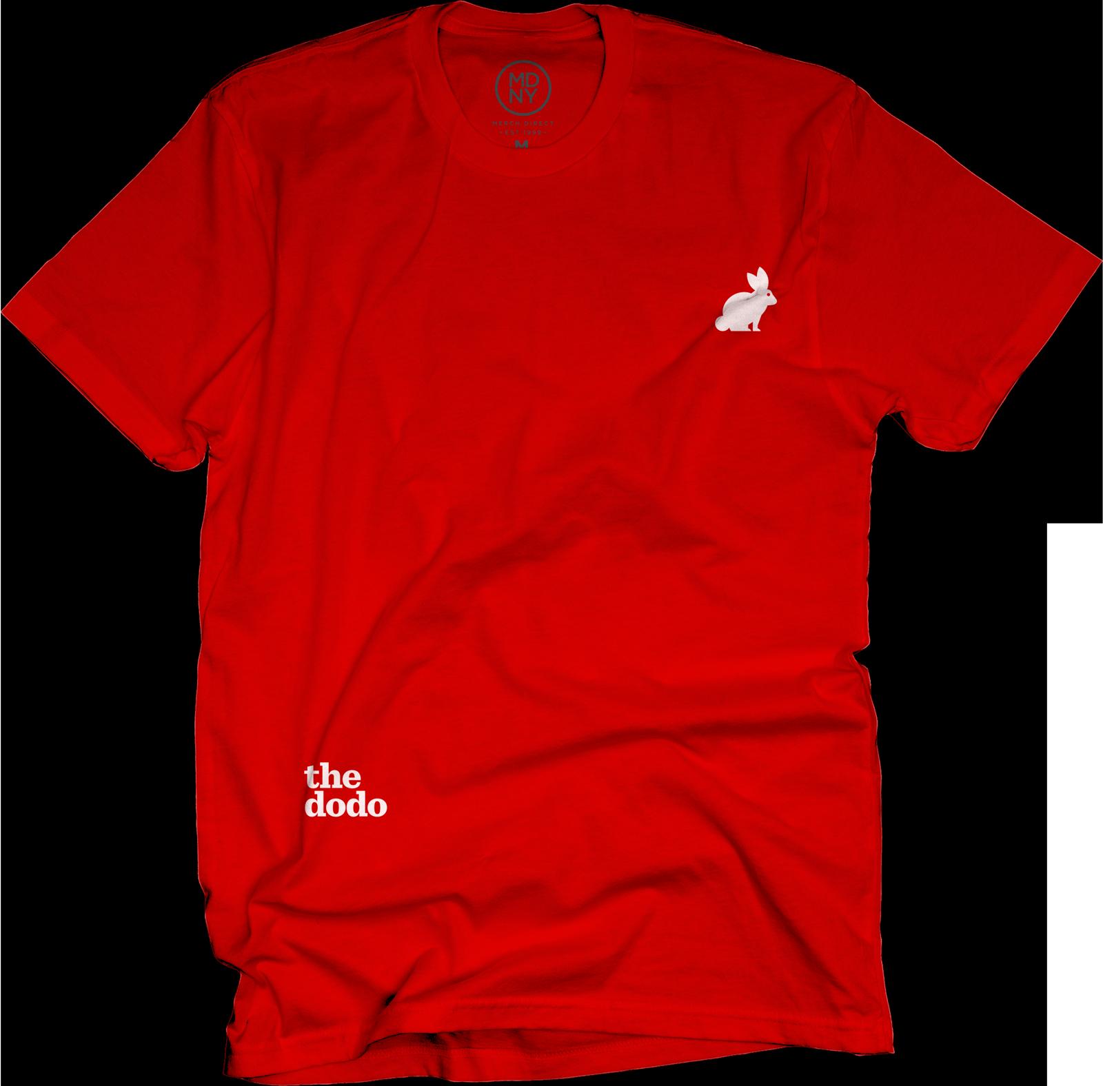 Dodo Friends Tee - Rabbit/Red