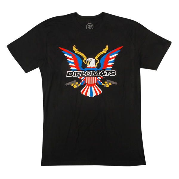 USA Logo Black T-Shirt