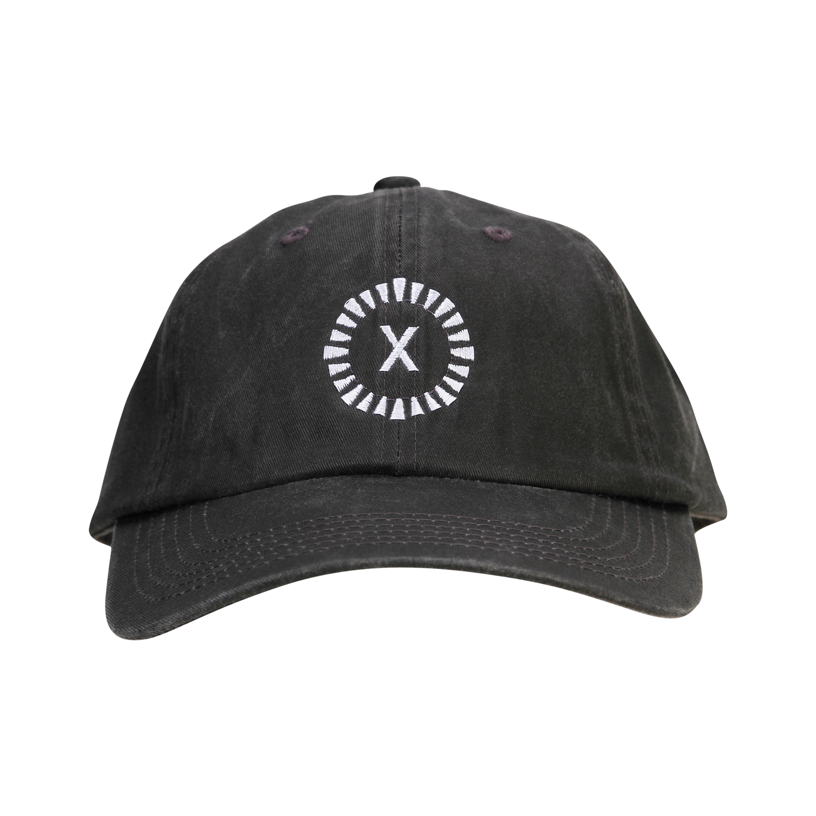 X Year Anniversary Garment Washed Dad Cap - Black