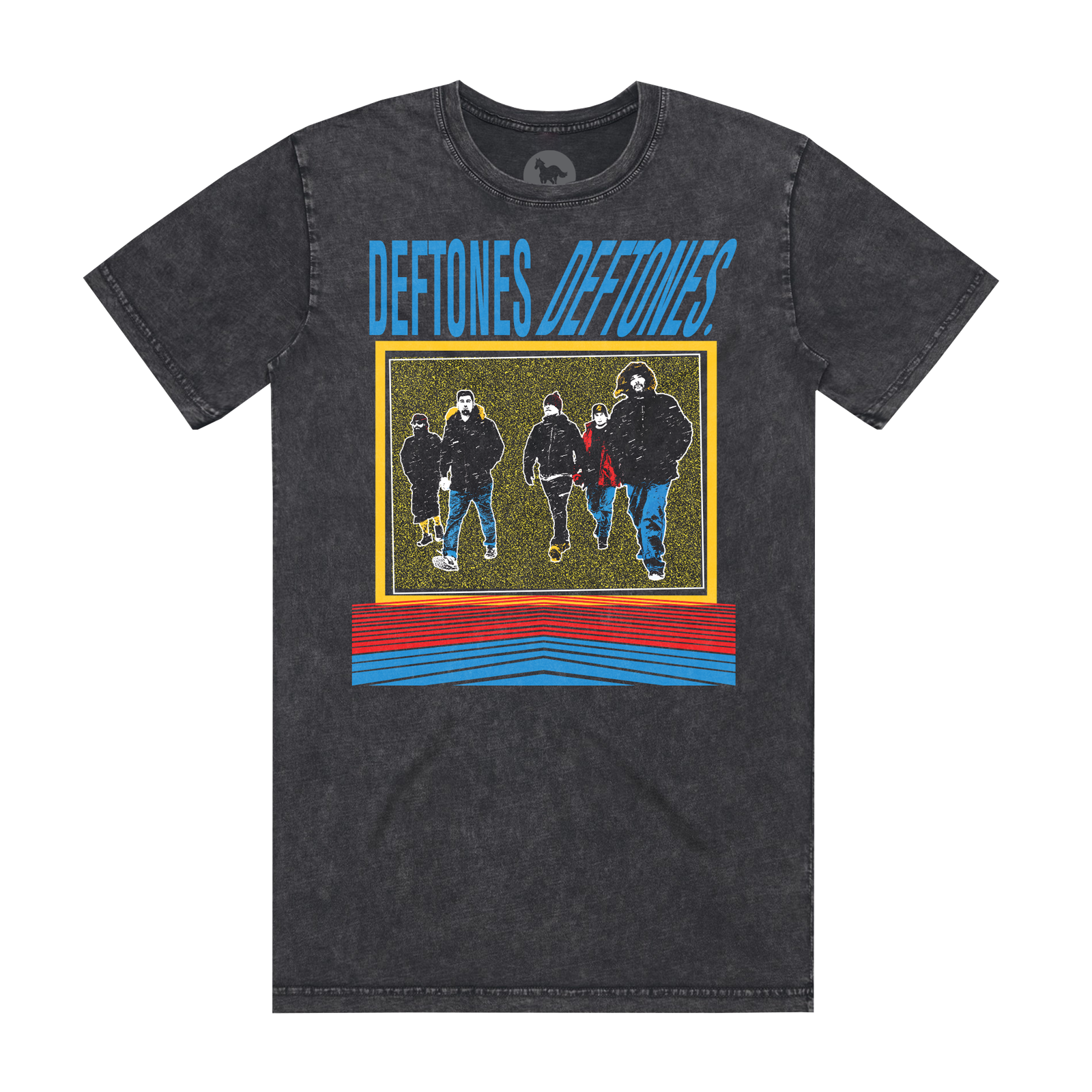 Deftones Deftones Band Photo Stone Wash Black T-Shirt