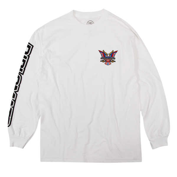 USA Logo White Long Sleeve