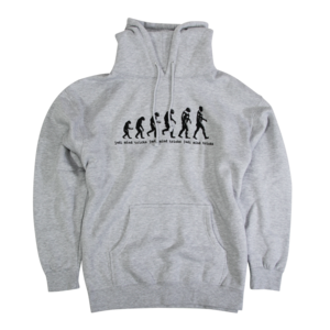 Retro Evolution Heather Grey Pullover