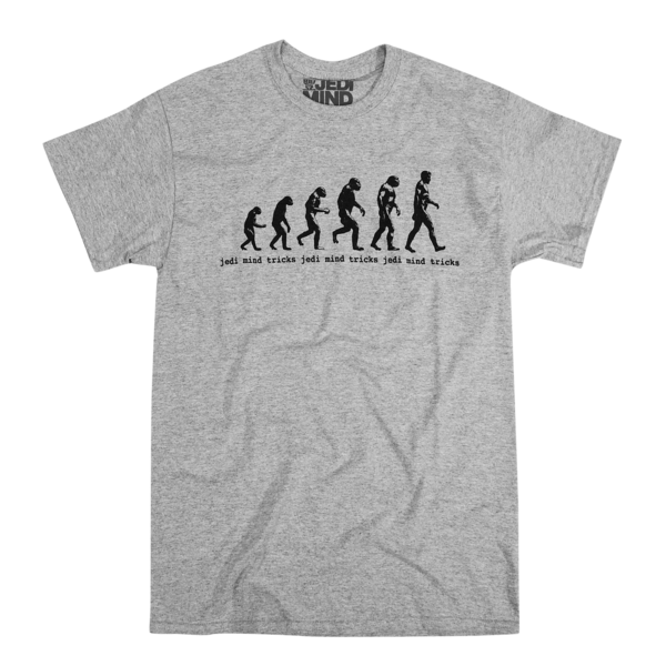 Retro Evolution Heather Grey T-Shirt