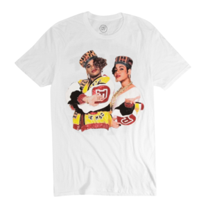 Classic Duo on White T-Shirt