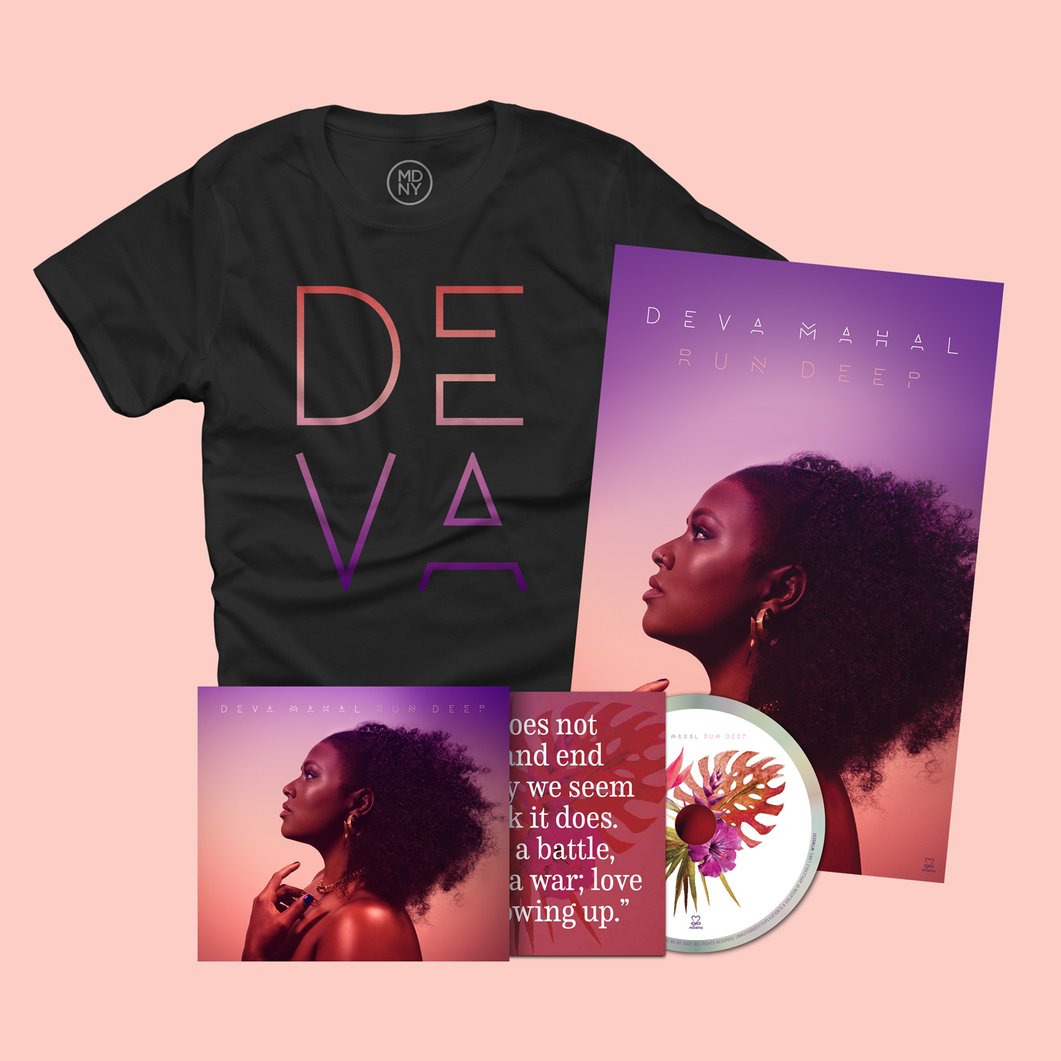 Run Deep - CD, Poster + T-Shirt Bundle