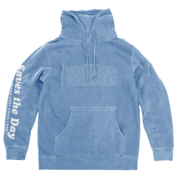 Through Being Cool - Pigment Dyed Light Blue Pullover