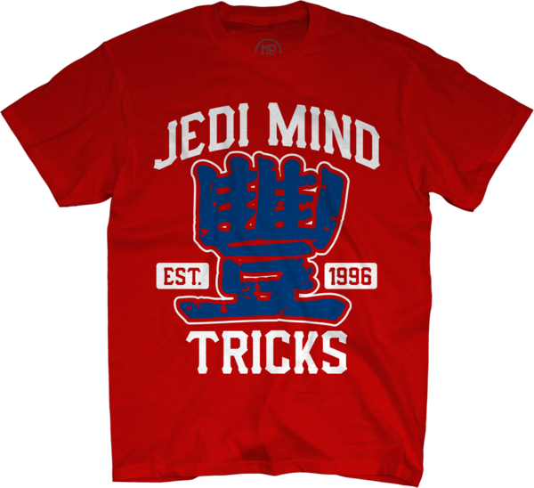 JMT Collegiate Blue on Red T-Shirt