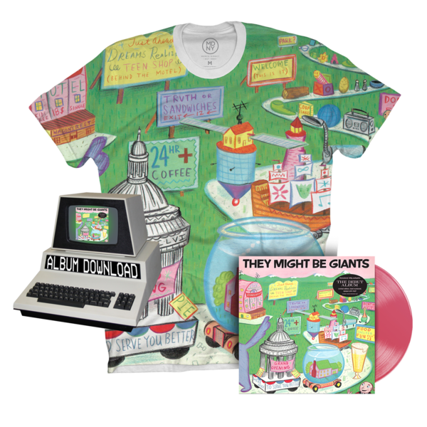 First Album Re-Issue Vinyl + Unisex All-Over Print Shirt + Download