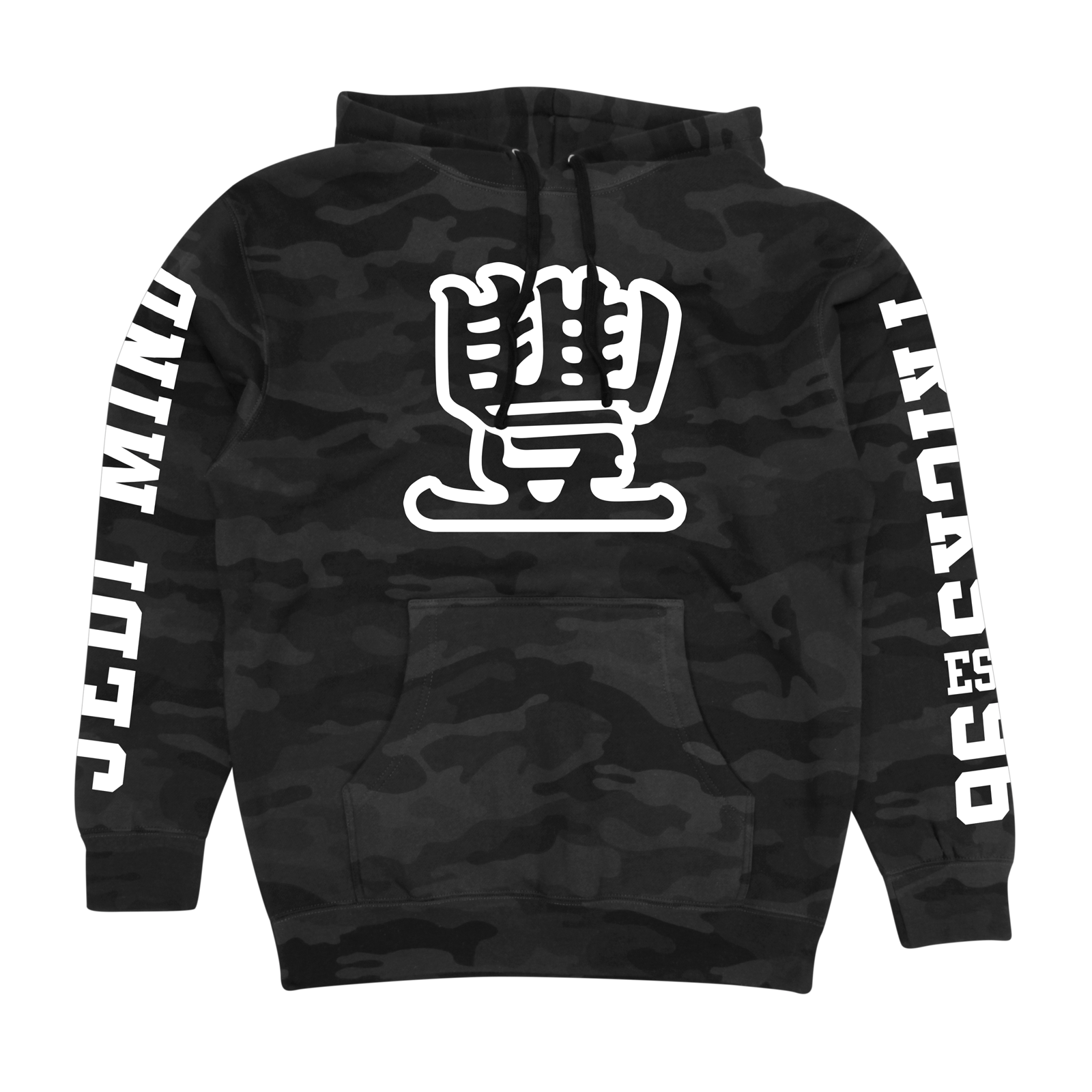 JMT - Broad Street on Black Camo Hoodie