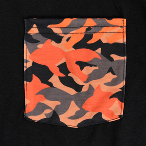 Goldfish Black Camo Pocket Tee