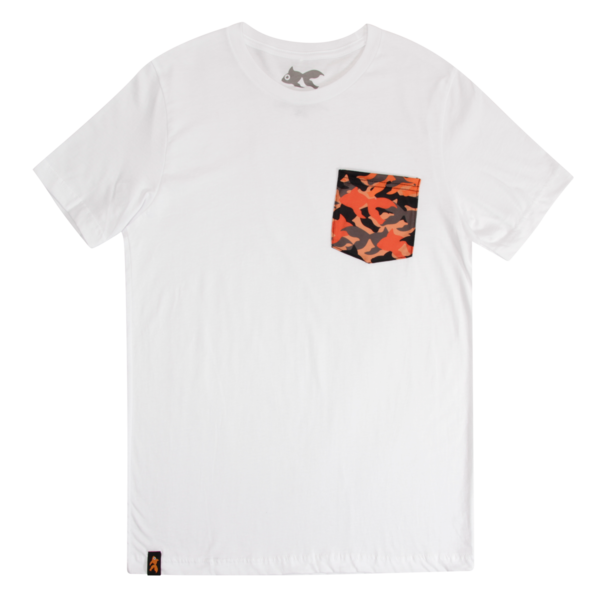 Goldfish White Camo Pocket Tee
