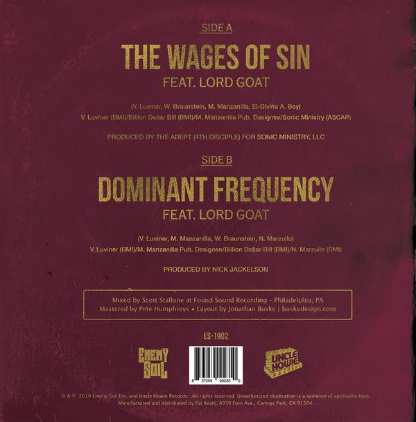 HMK - The Wages Of Sin b/w Dominant Frequency 7-inch