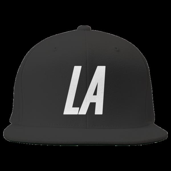 LA Black Flatbrim Snapback
