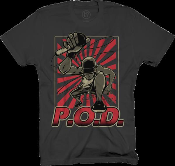 Mic Drop on Black T-Shirt