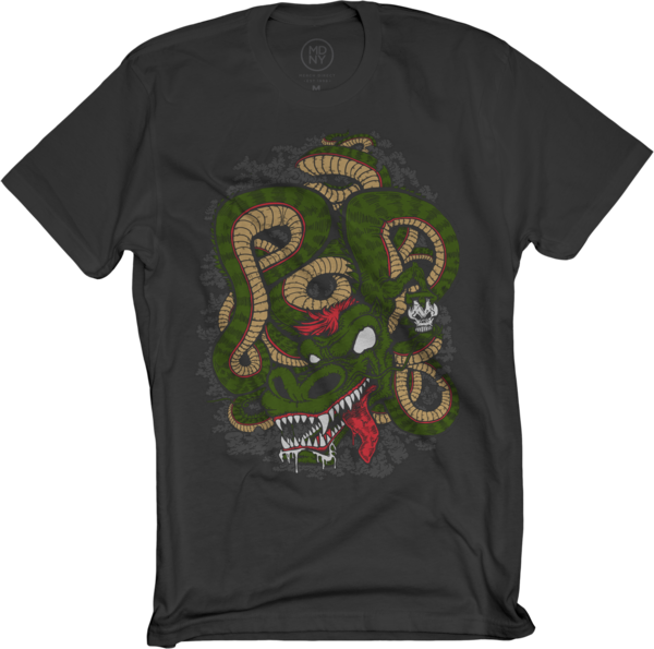 POD Dragon on Black T-Shirt