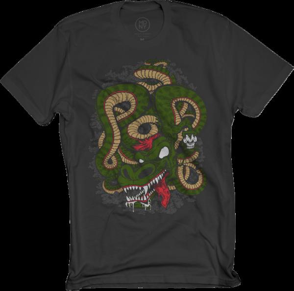 POD Dragon on Black T-Shirt