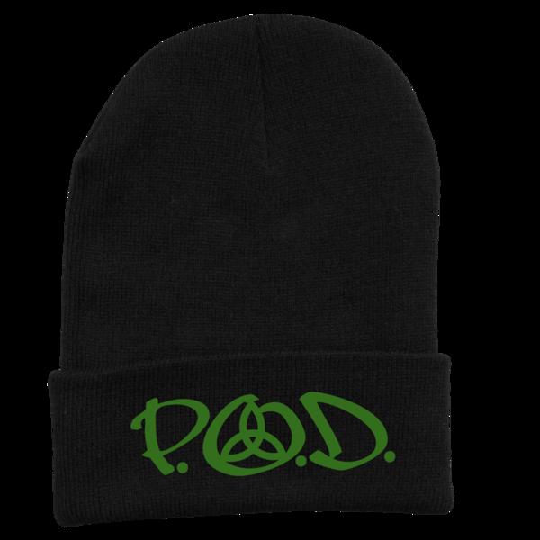 Green Logo Black Beanie
