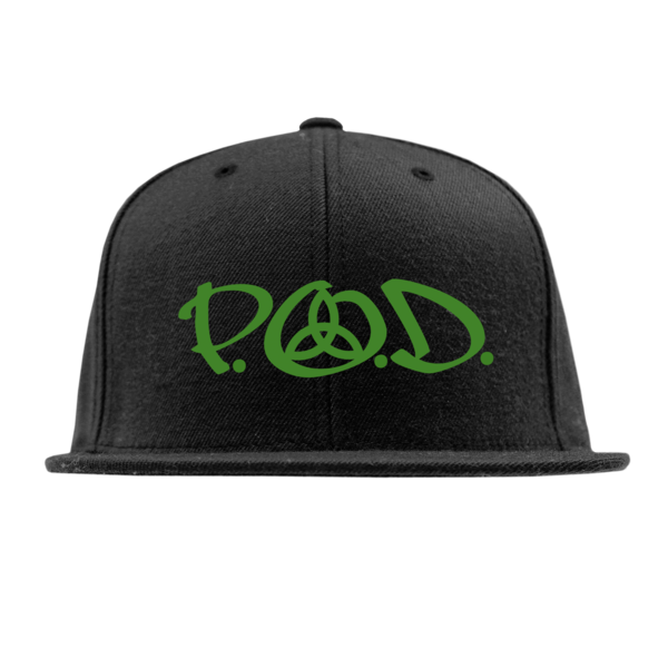 Green Logo Black Snapback