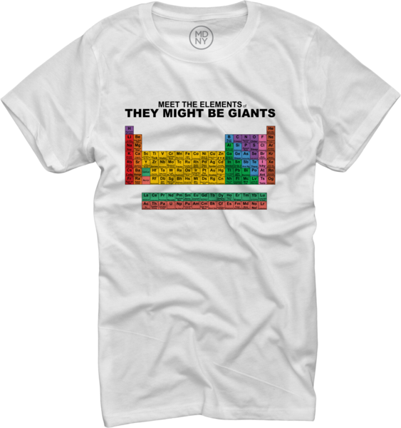 Meet the Elements of TMBG Women's T-Shirt on White