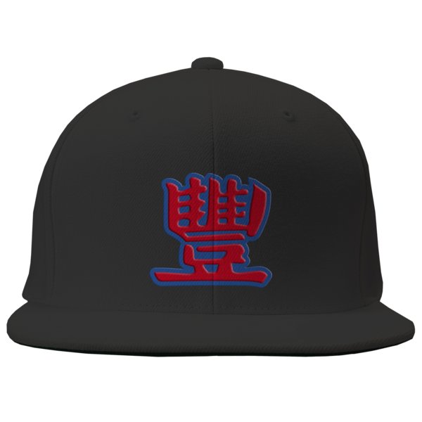 Collegiate Maroon and Navy on Black Snapback