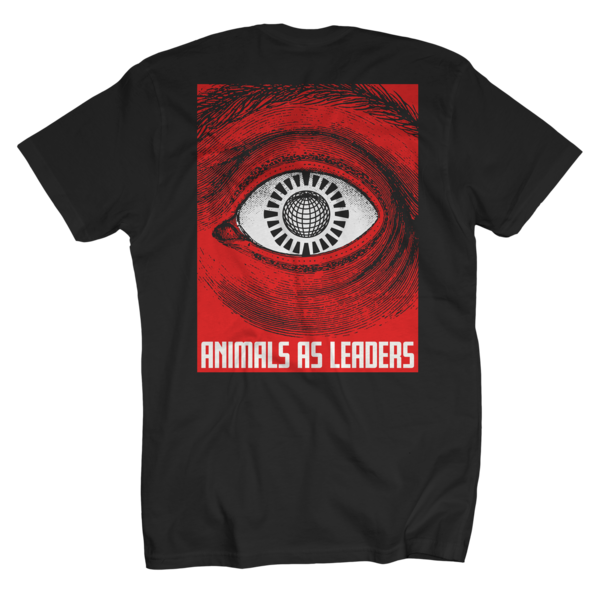 Eyeball on Black T-Shirt