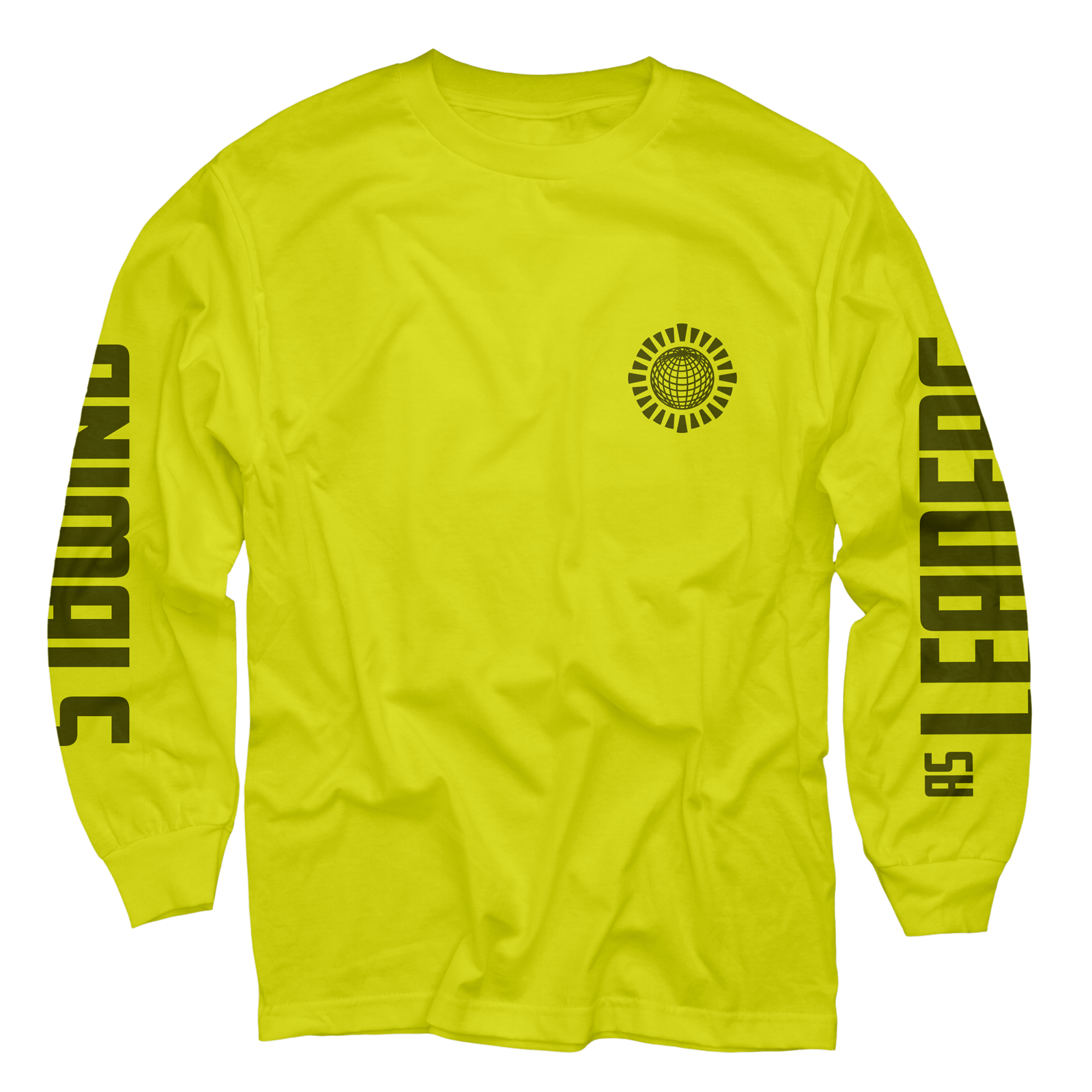 Globe on Safety Green Long Sleeve