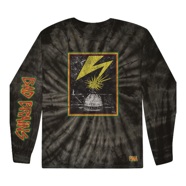Capitol on Spider Black Tie Dye Long Sleeve