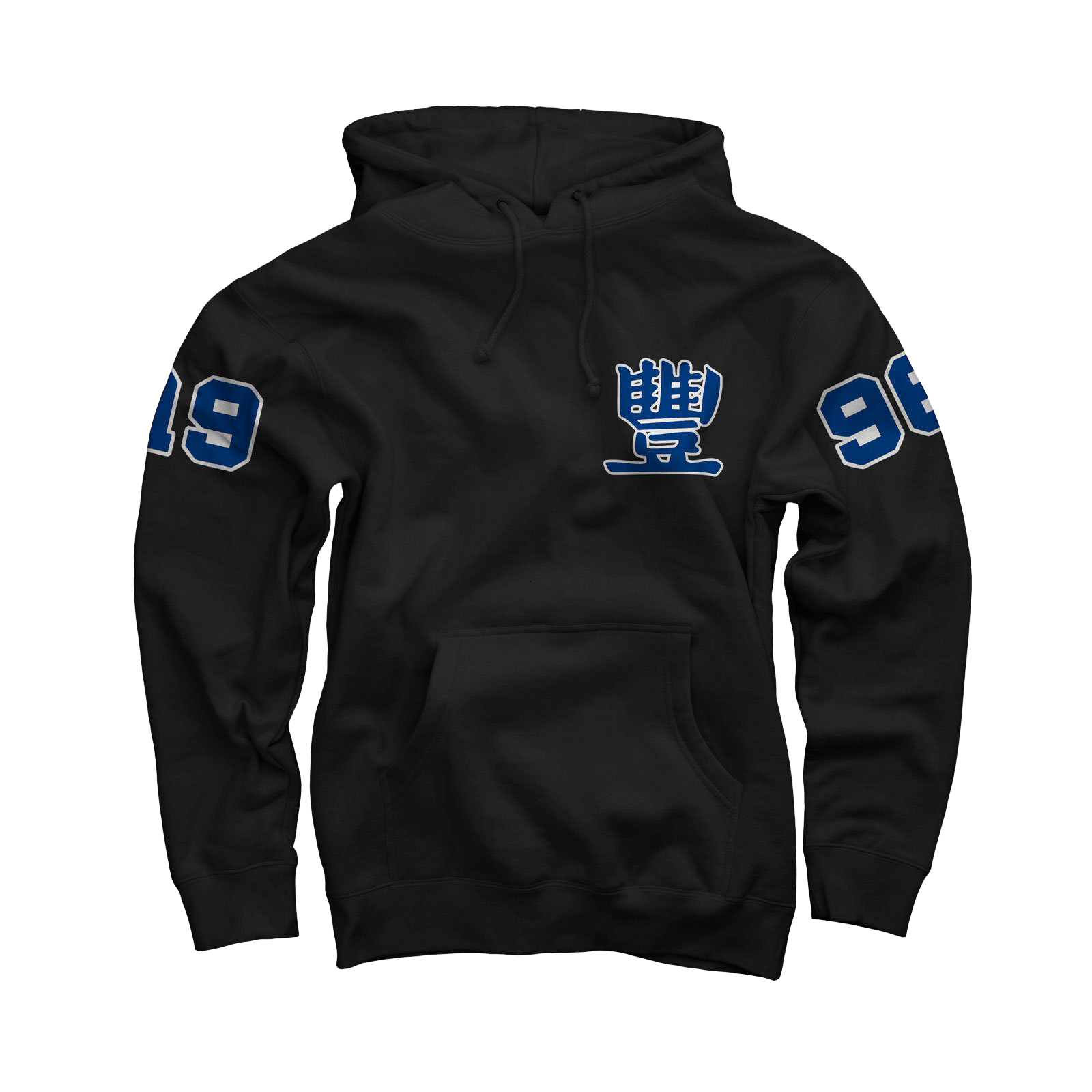 Collegiate Blue on Black Pullover