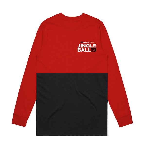JB19 Tour Red/Black Colorblock Longsleeve