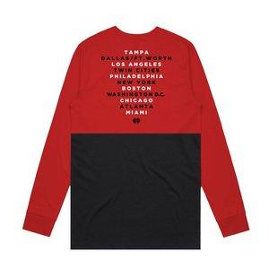 JB19 Tour Red/Black Colorblock Longsleeve
