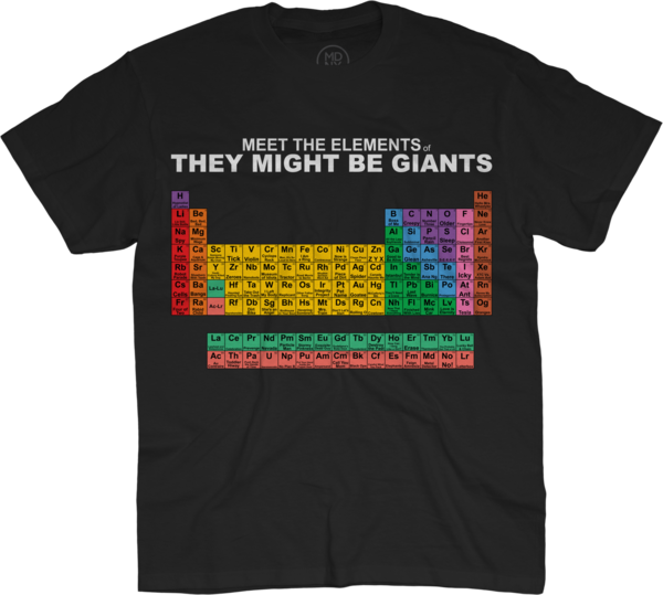 Meet the Elements of TMBG Unisex T-Shirt on Black
