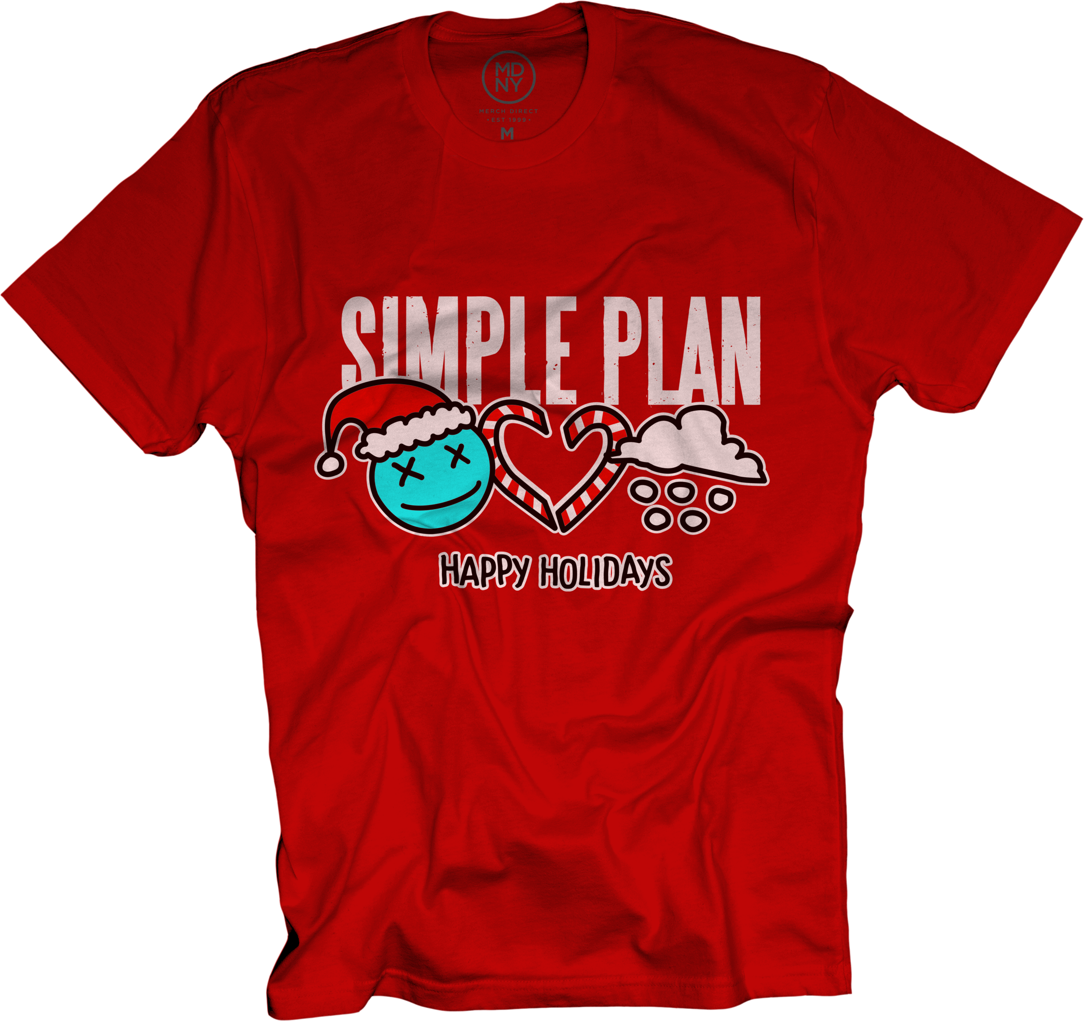 Happy Holidays on Red T-Shirt