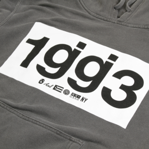 1GG3 Pigment Dyed Black Pullover