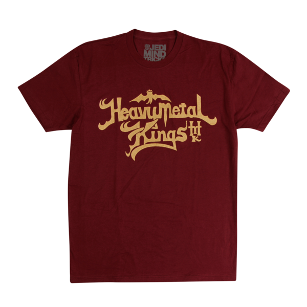 Heavy Metal Kings Maroon T-Shirt