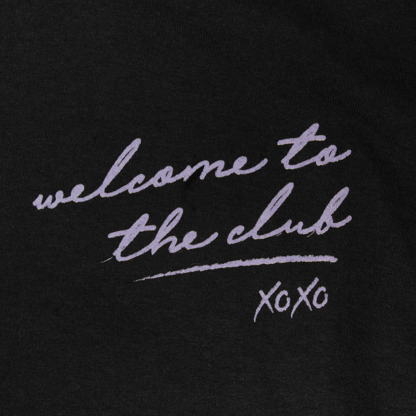 Welcome to the Club Black Long Sleeve