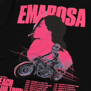 Peach Club Tour on Black T-Shirt