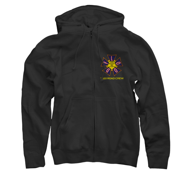 Flood Tour 2020 Black Zip Up Sweatshirt