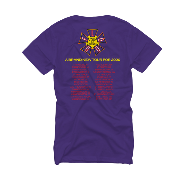 Flood Tour 2020 Purple Fitted/Women's T-Shirt