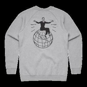 Globe on Heather Grey Crewneck