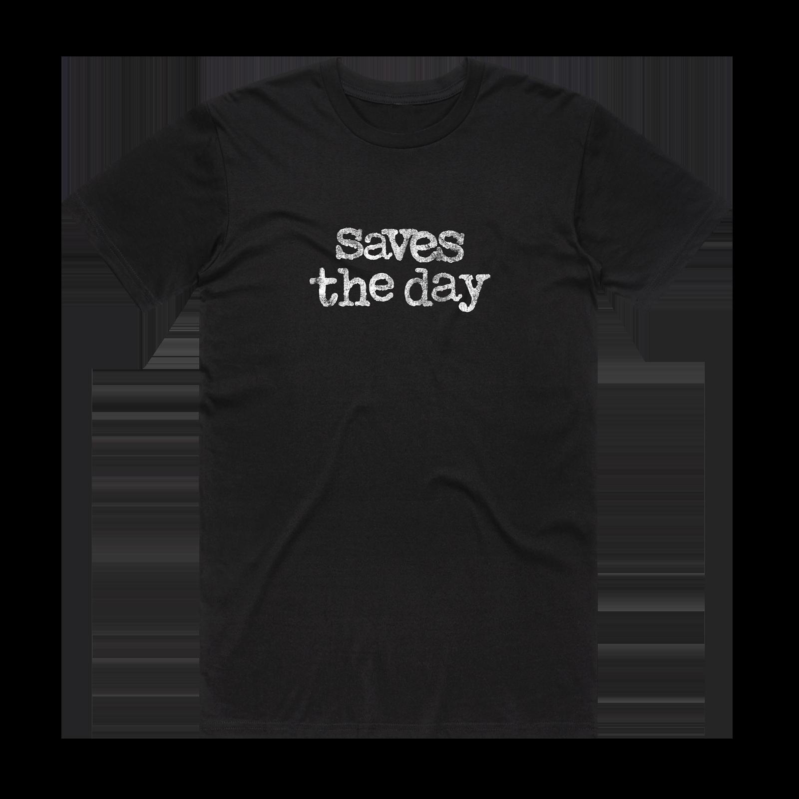 Distressed Logo on Black T-Shirt
