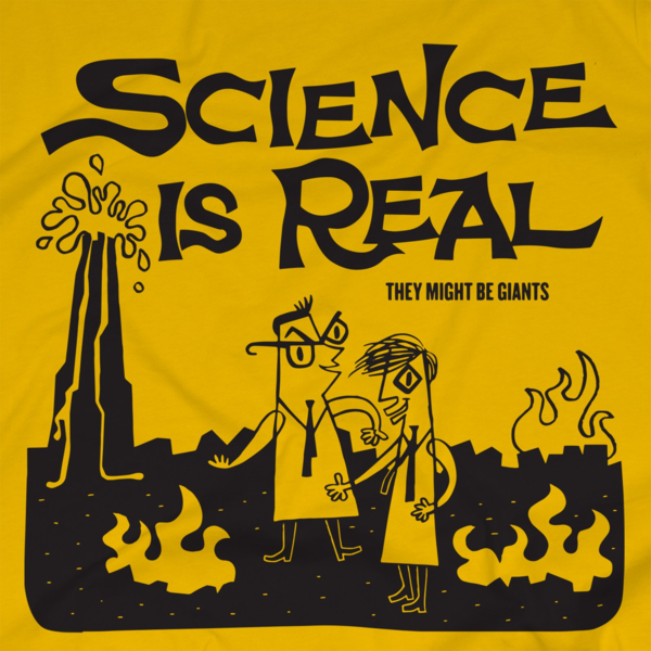 Science is Real Unisex Gold T-Shirt