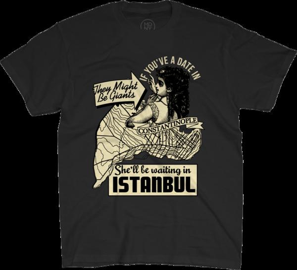 Istanbul on Unisex Black T-Shirt
