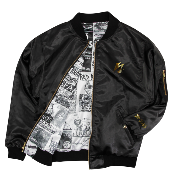 Black Flyer Lined Bomber