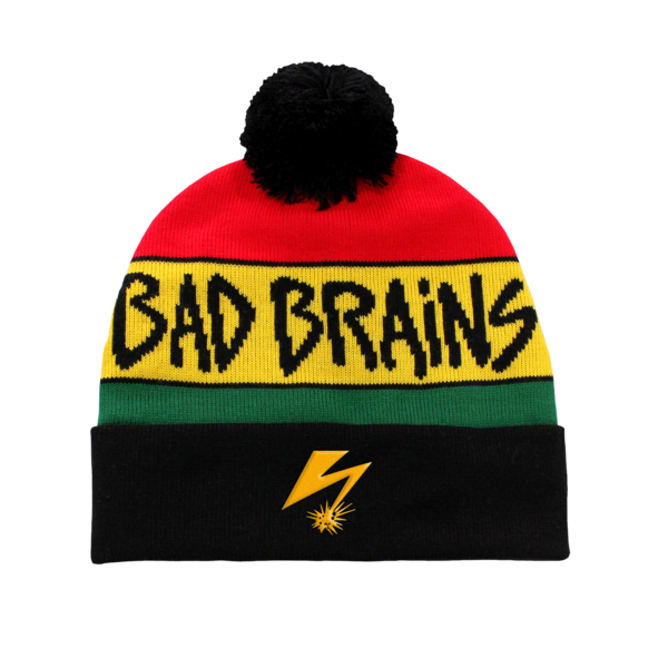 Red Gold Green Bad Brains Pom Beanie
