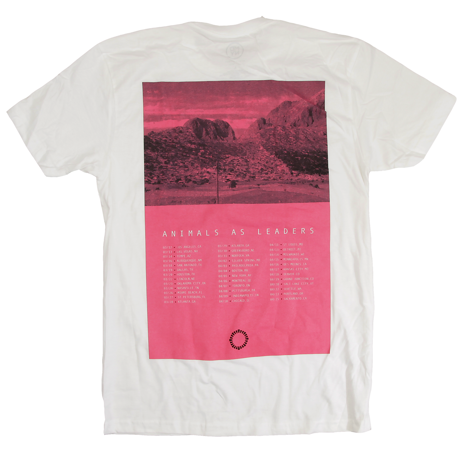Cancelled Tour Date Back Tee - White