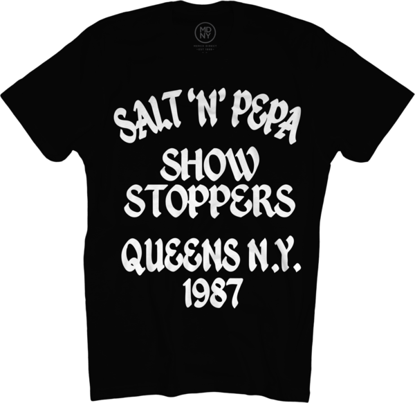 Showstoppers on Black T-Shirt