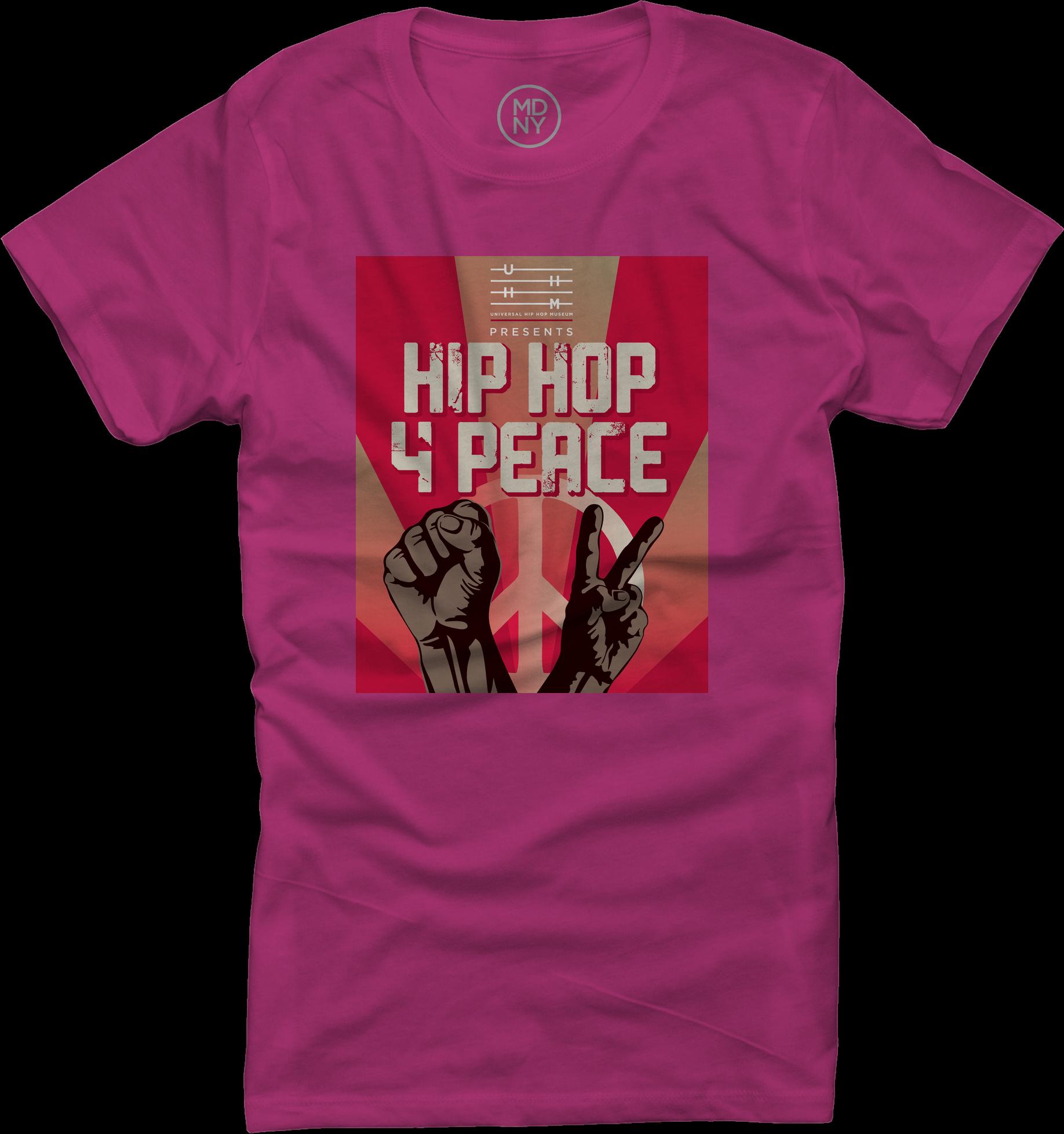 HIp Hop 4 Peace Pink Woman's Tee