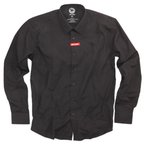 Black on Black Pony Button Up