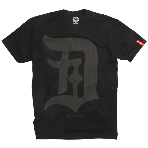 Black on Black Sacramento T-Shirt